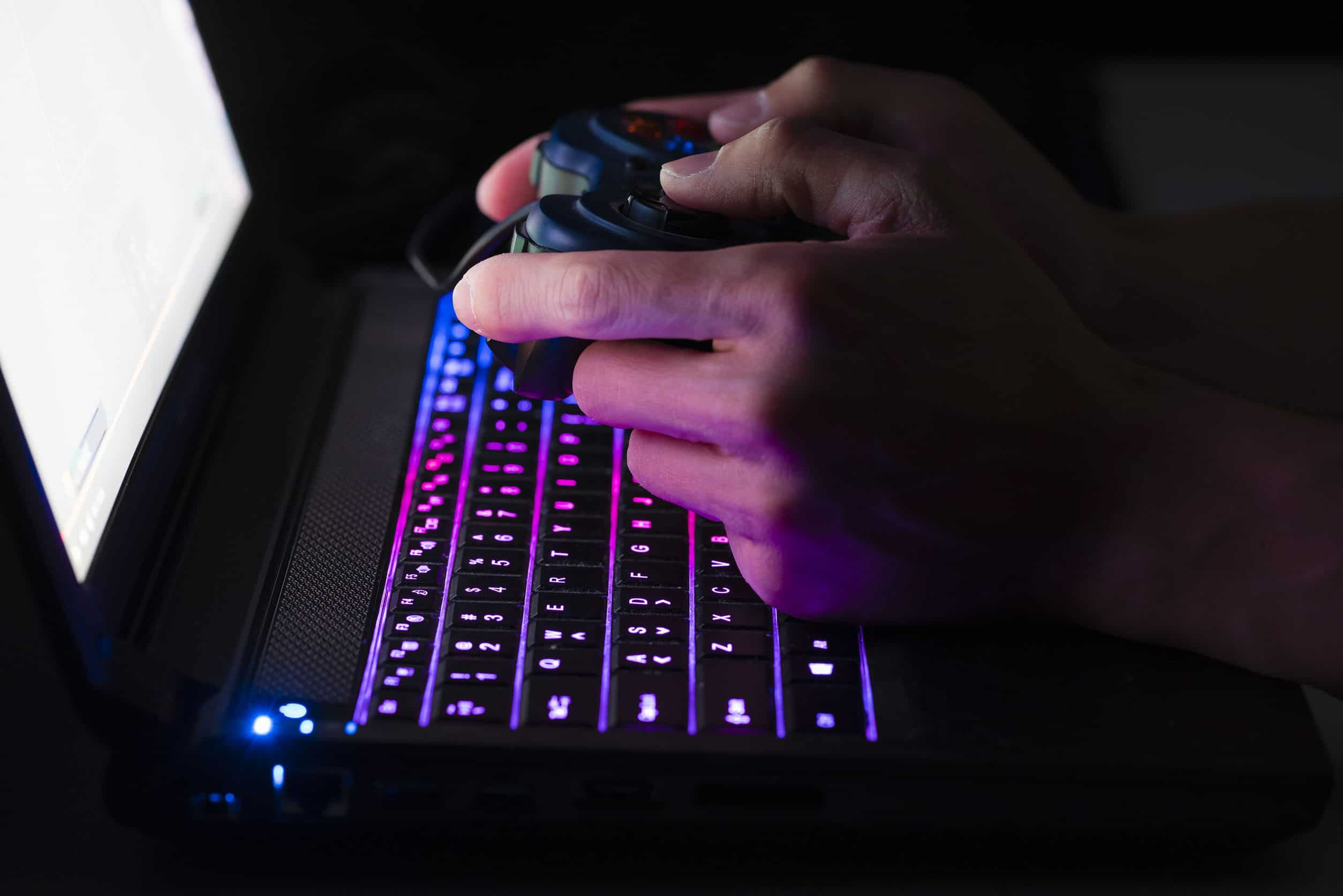 Image shows gamer keyboard in close-up.