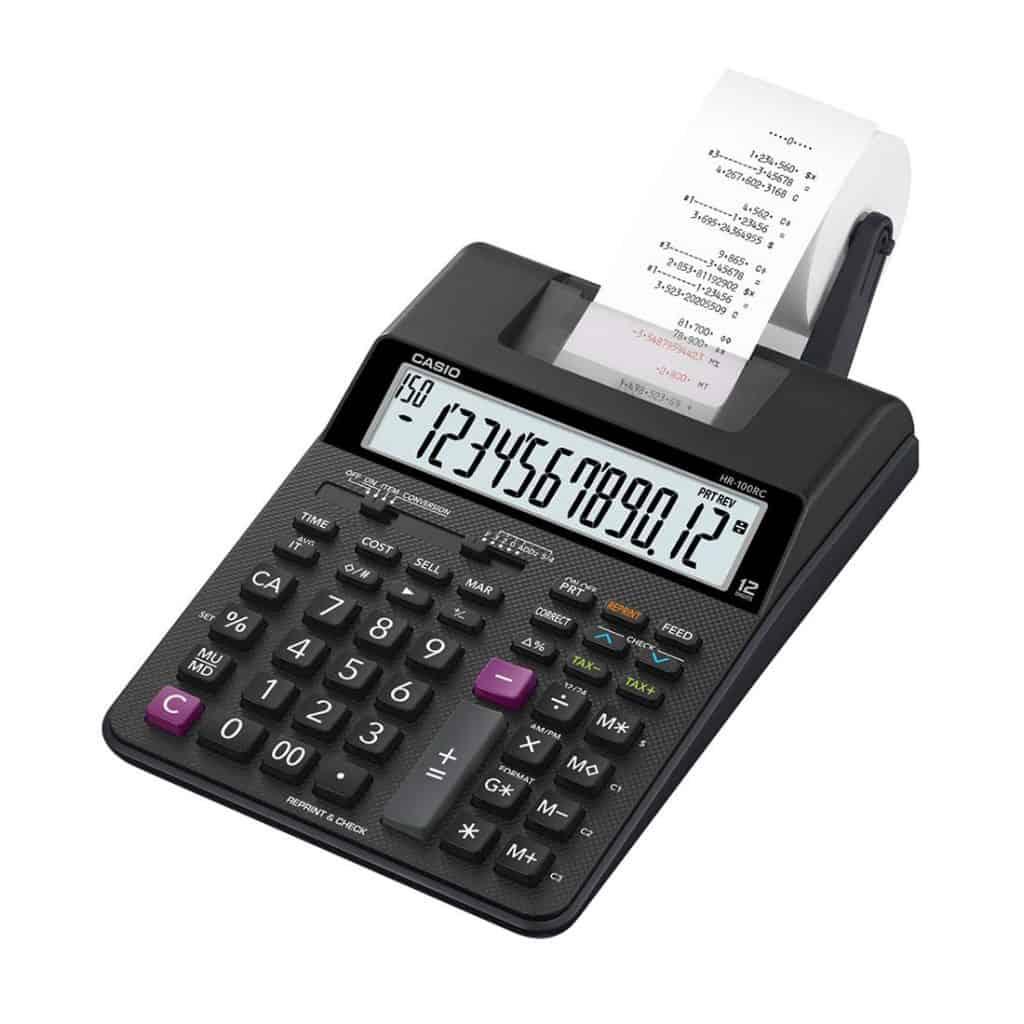 magem de uma calculadora com bobina preta