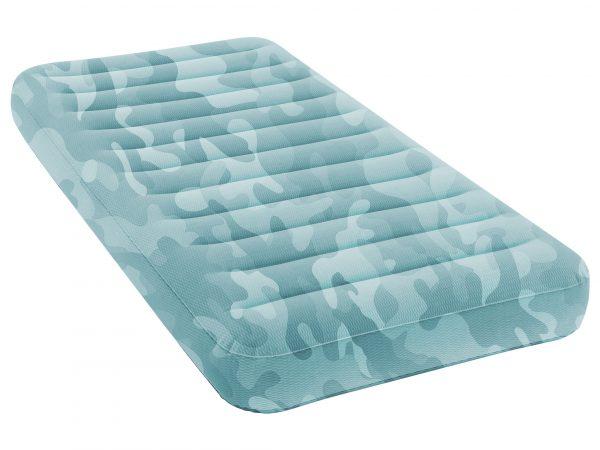 Imagem de colchão de ar de solteiro em fundo branco.