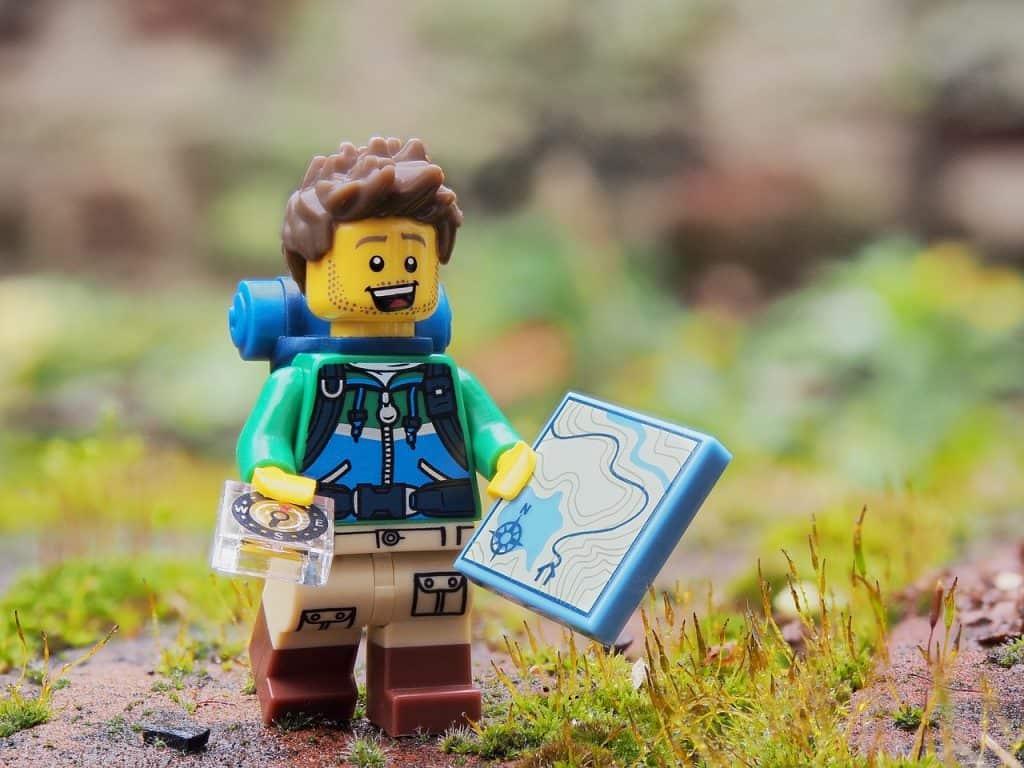 Imagem de uma mini figura da Lego