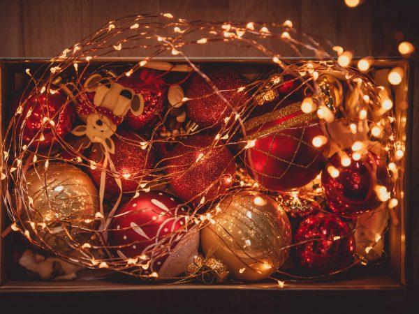 Imagem de itens de decoração de natal