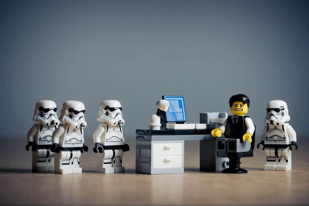 Imagem de peças Lego da temática Star Wars Guerra nas Estrelas