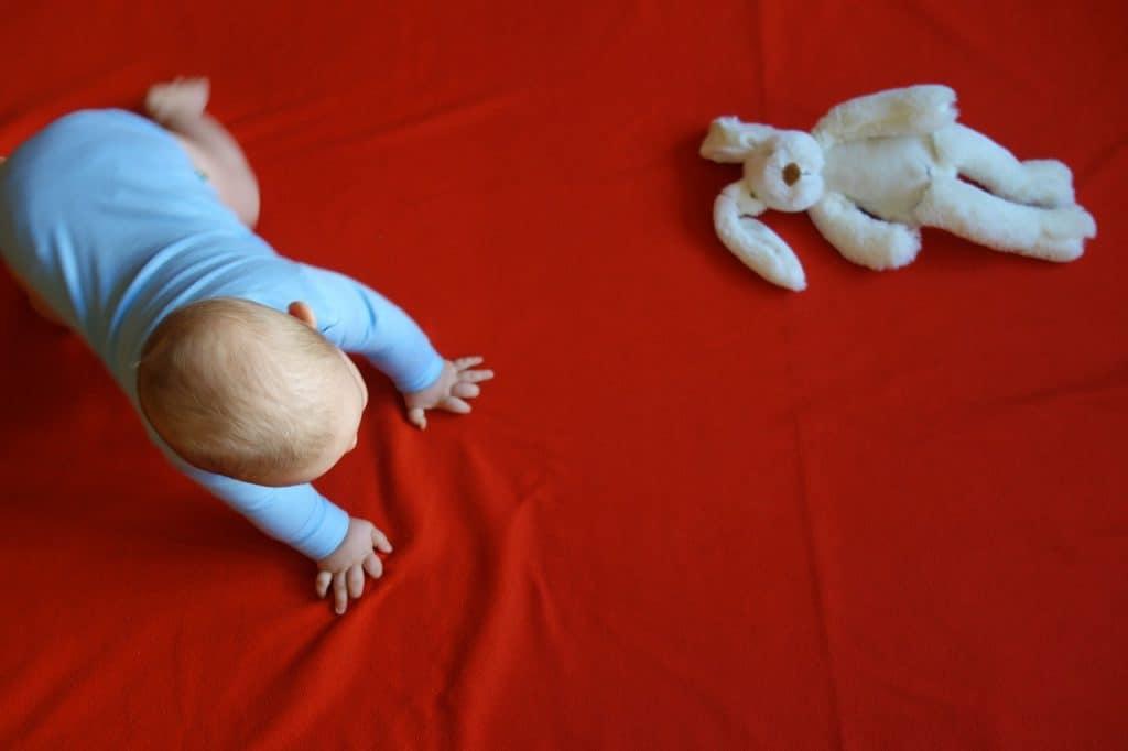 Bebê engatinhando.
