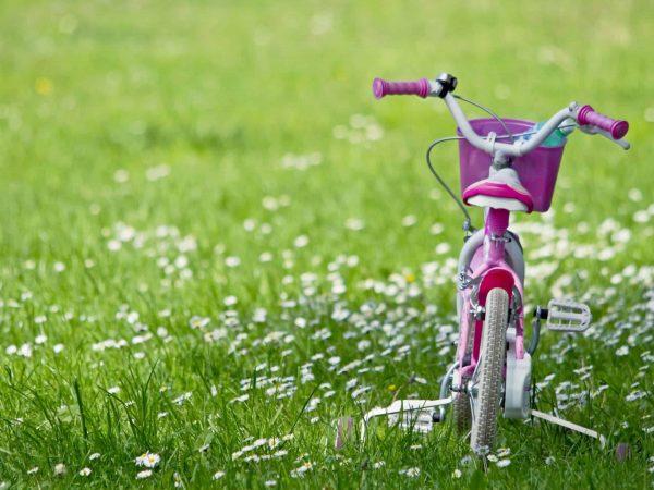 Bicicleta infantil feminina.