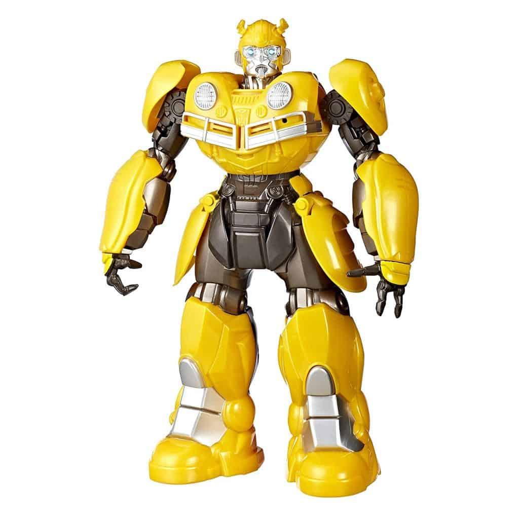 Imagem mostra um boneco Bumblebee.