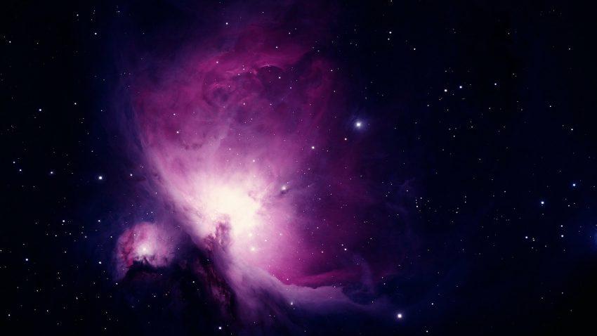 Imagem ampliada da nebulosa de Órion, possível de ser observada com alguns modelos de telescópio.