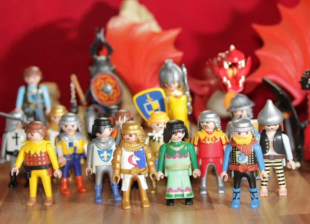 Imagem de mini figuras Playmobil do tema History.