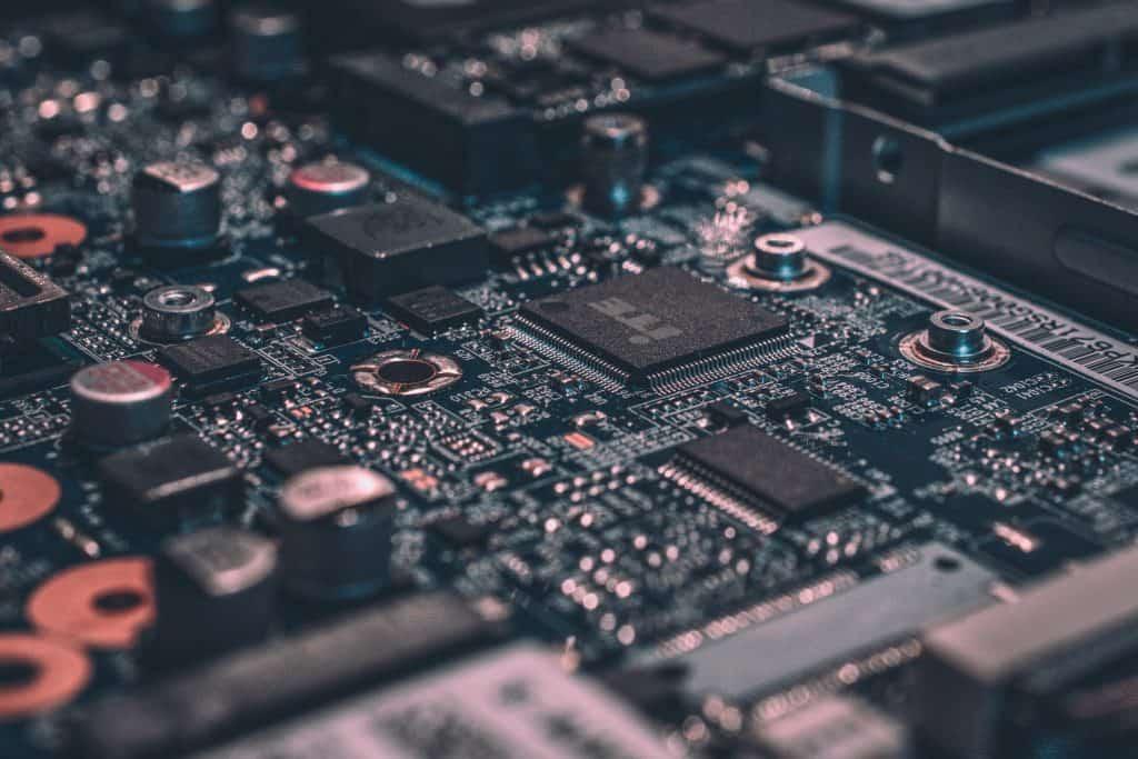 Imagem de um hardware de computador.