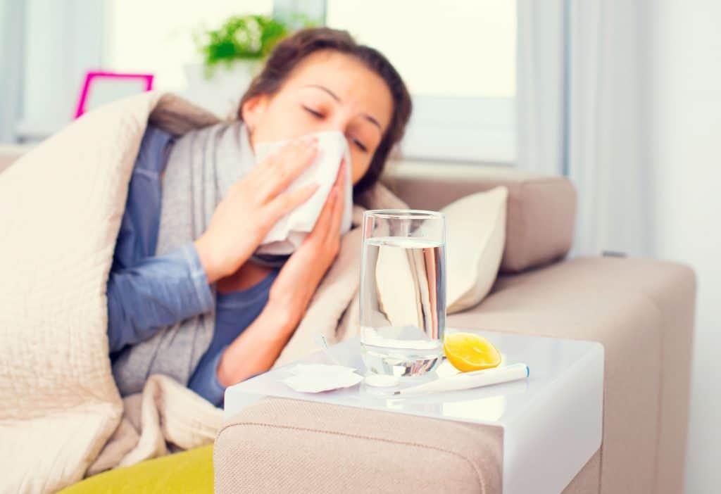 Imagem de uma mulher doente