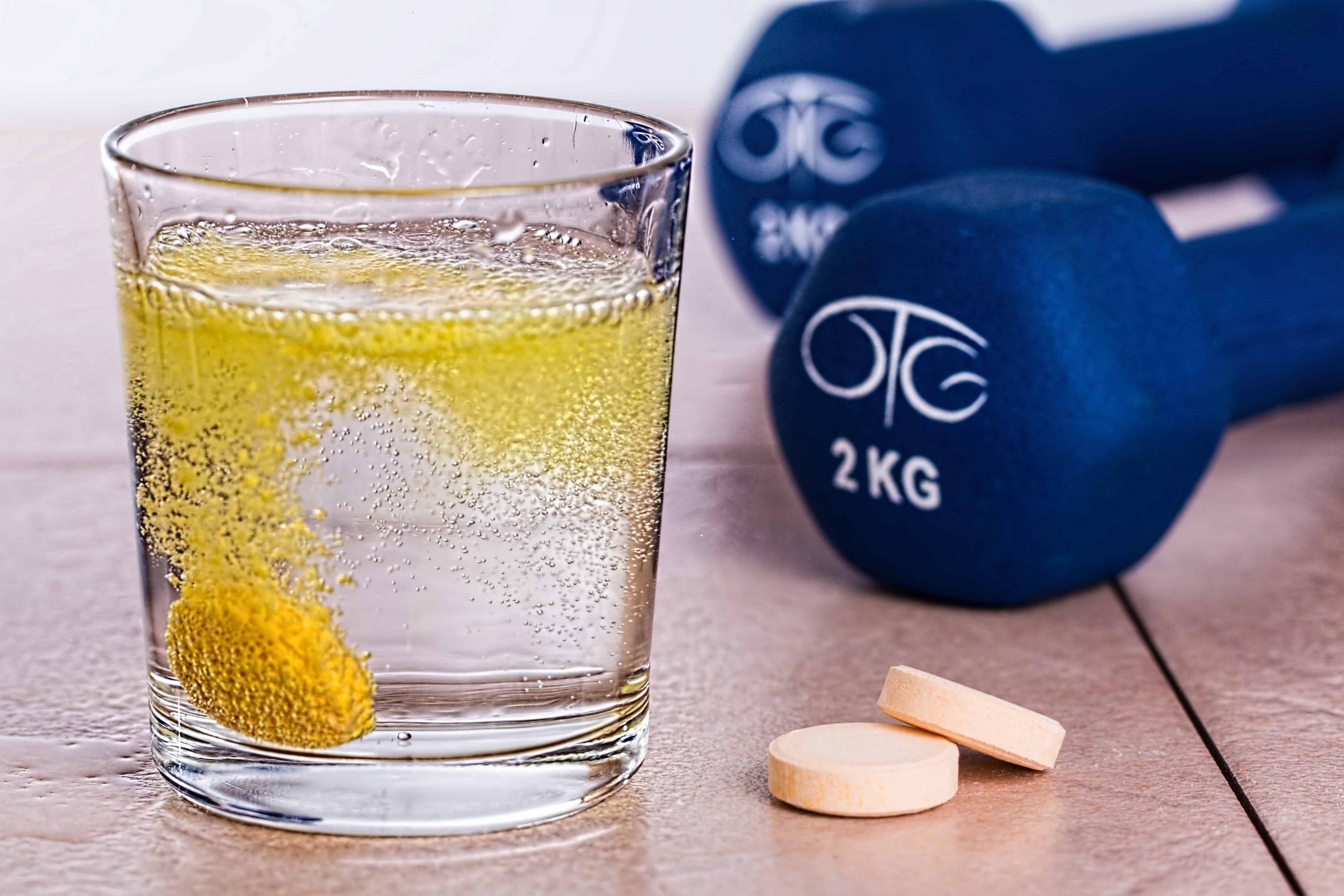 Imagem de um suplemento de vitamina C efervescente