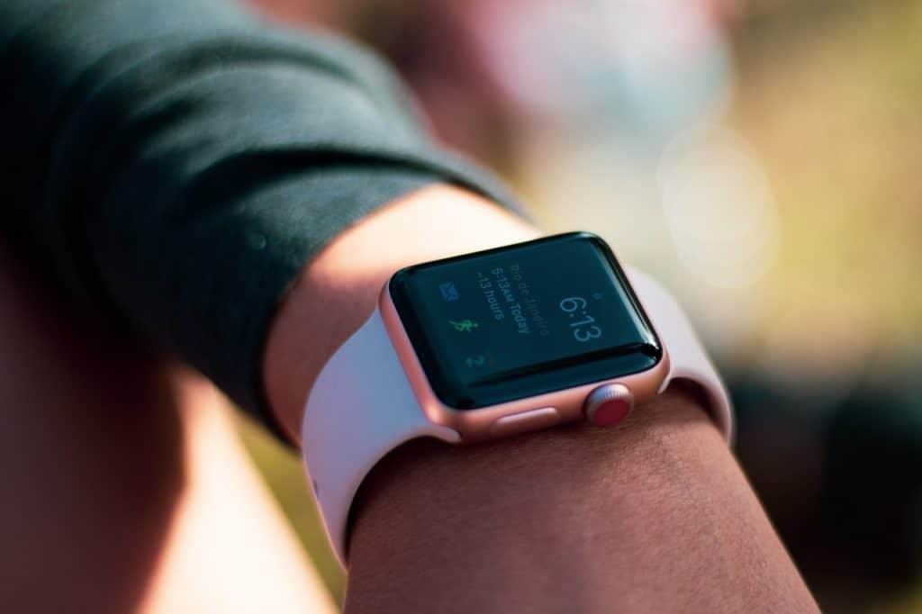 Imagem de uma Apple Watch.