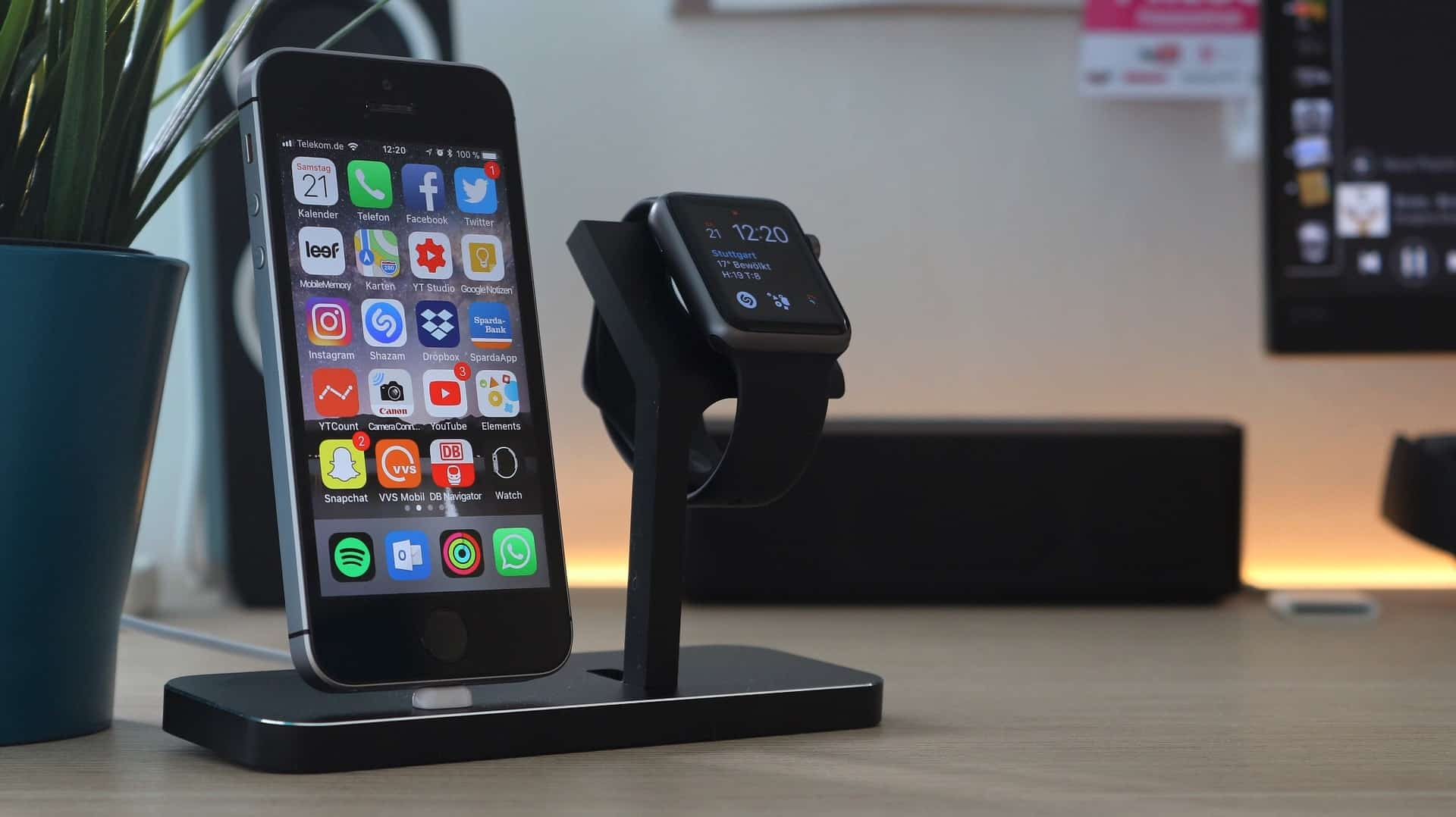 Imagem do Apple Watch, uma extensão do Iphone.