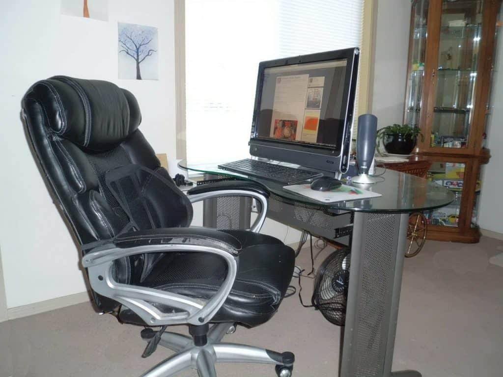 Imagem de uma cadeira giratória