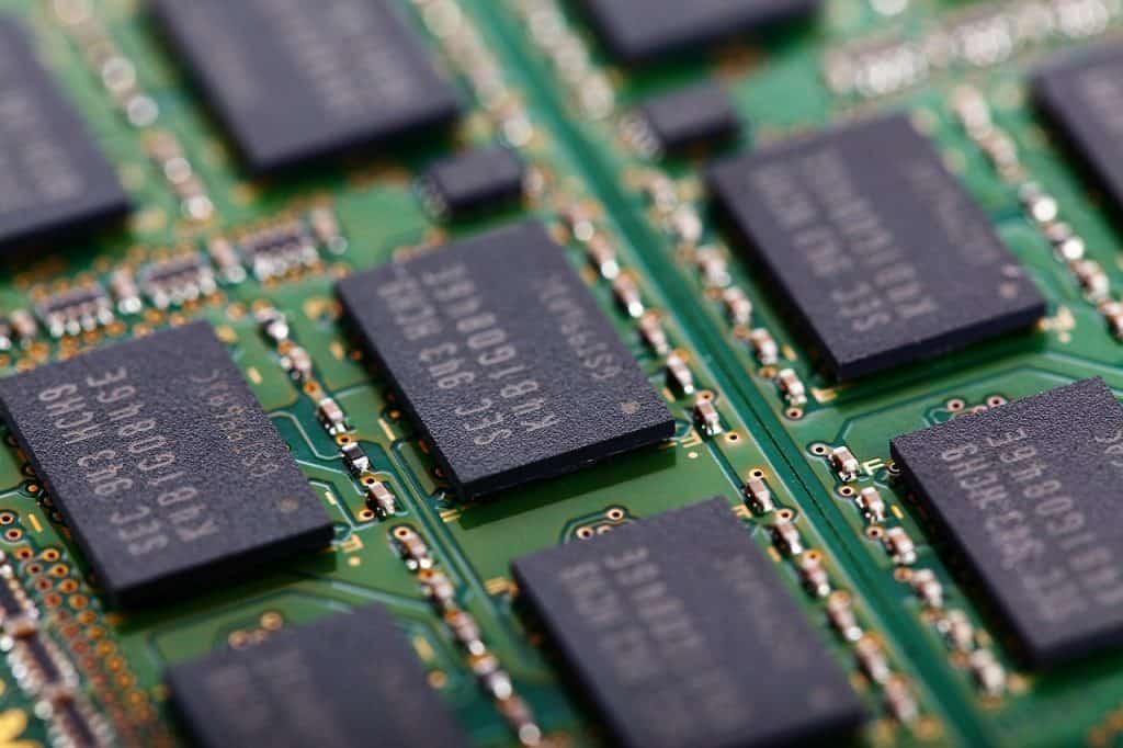 Memória RAM de um computador.