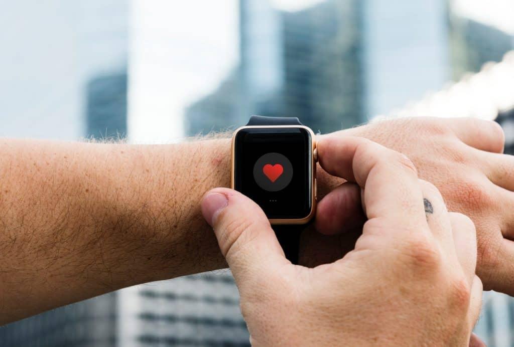 Imagem do aplicativo de monitoramento cardíaco do Apple Watch.