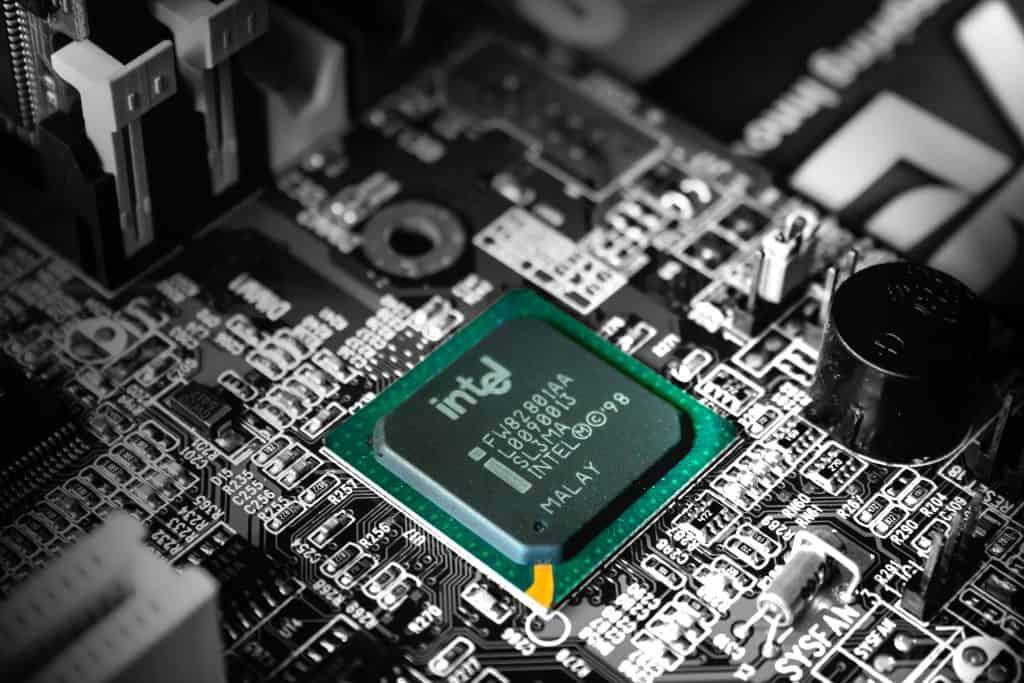 Imagem de um processador da Intel.