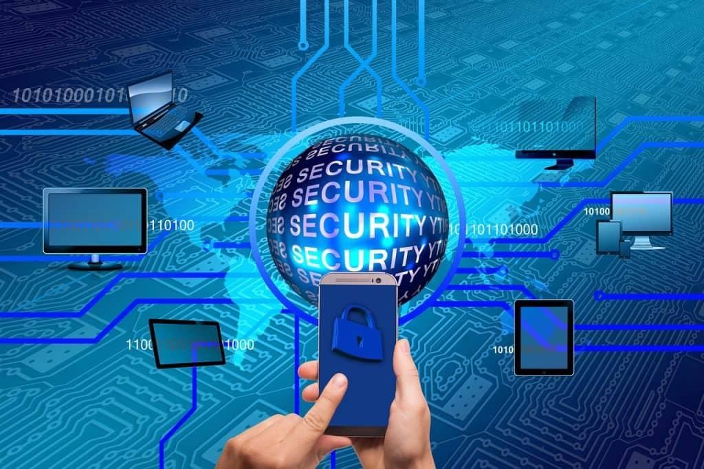 Ilustração mostra diversos dispositivos protegidos.