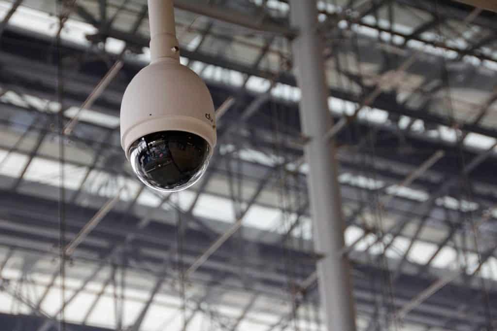 Imagem de câmera de segurança dome.