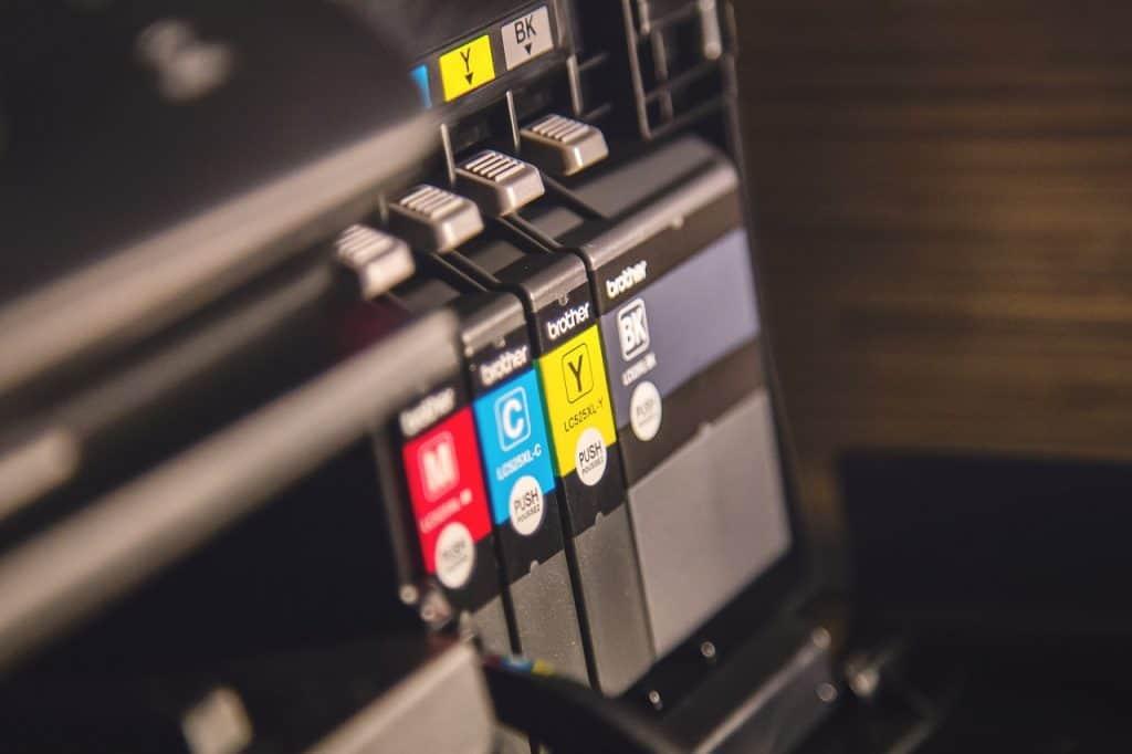 Imagem de tinta para impressora jato de tinta