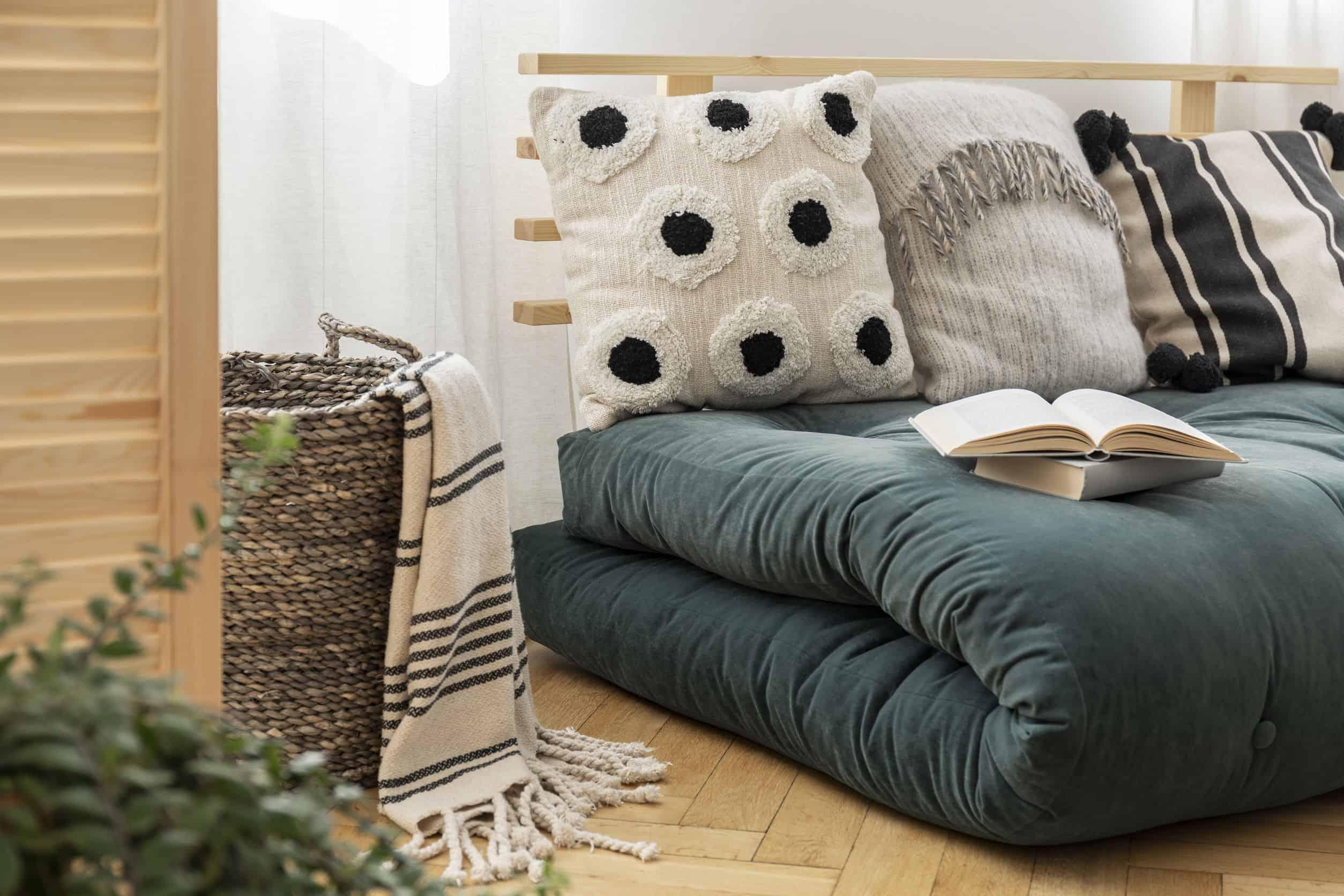 Imagem de um futon.