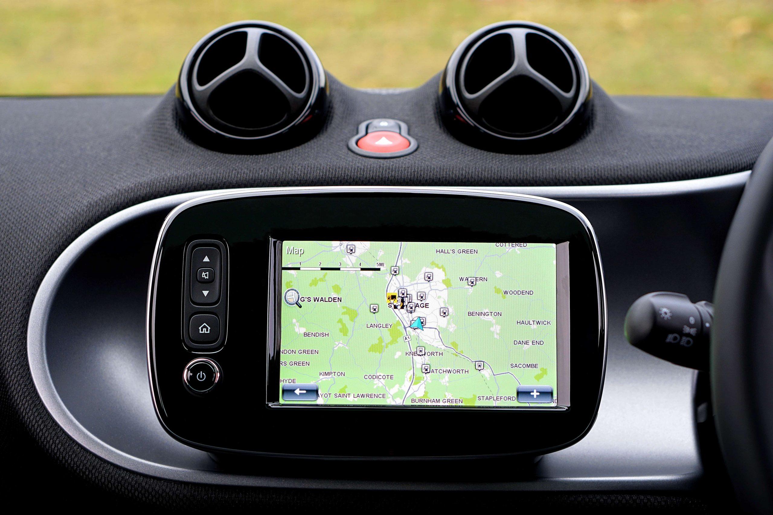 Imagem de um GPS automotivo.