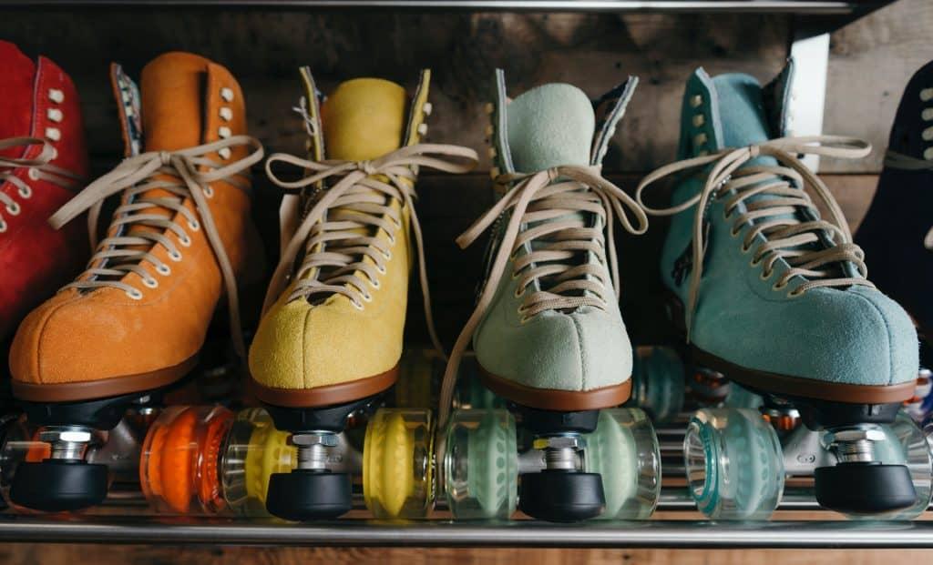 Imagem de um conjunto de patins quad.