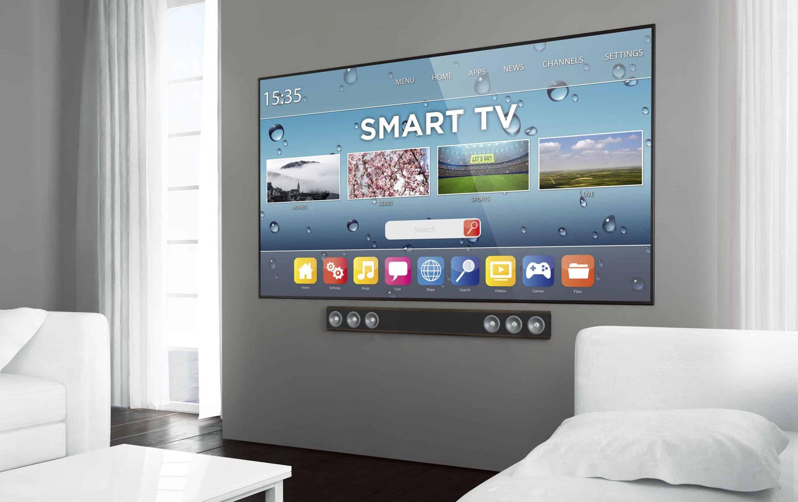 Smart TV na sala.
