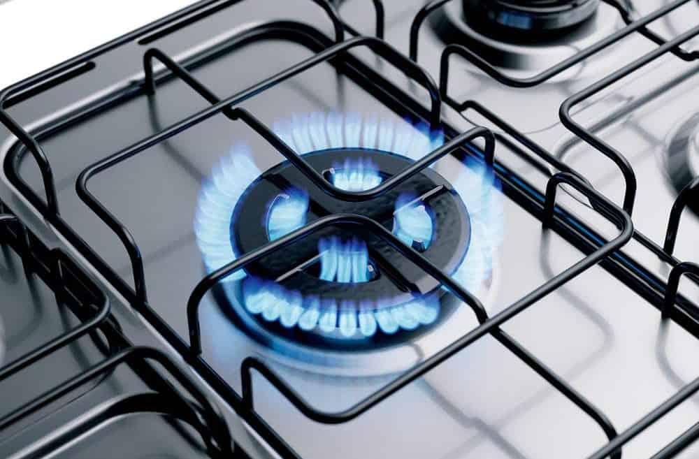 Imagem da boca de um fogão.