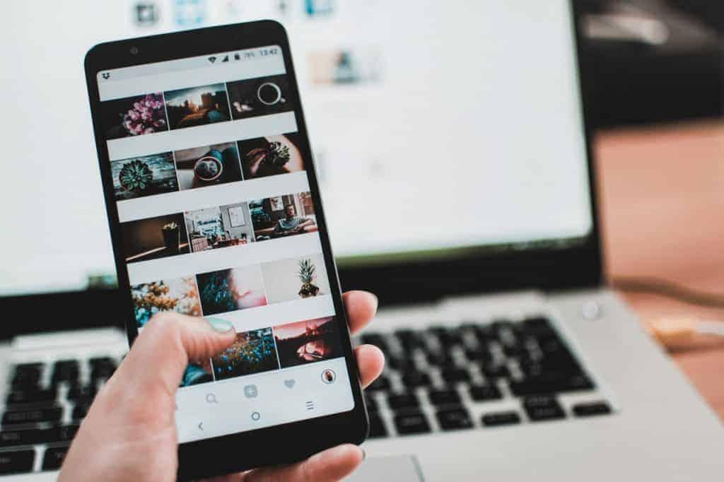 Imagem do rolo de câmera de um smartphone.