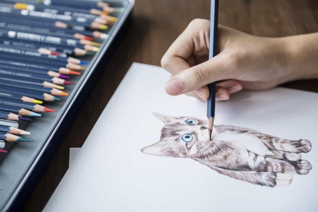 Imagem de uma pessoa desenhando.