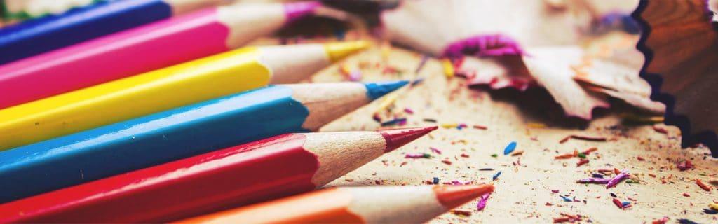 Imagem de lápis de cor.
