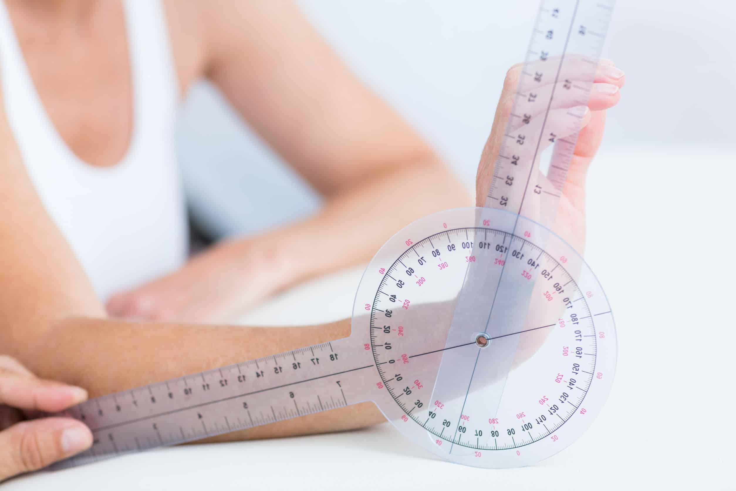 Imagem de um goniômetro.
