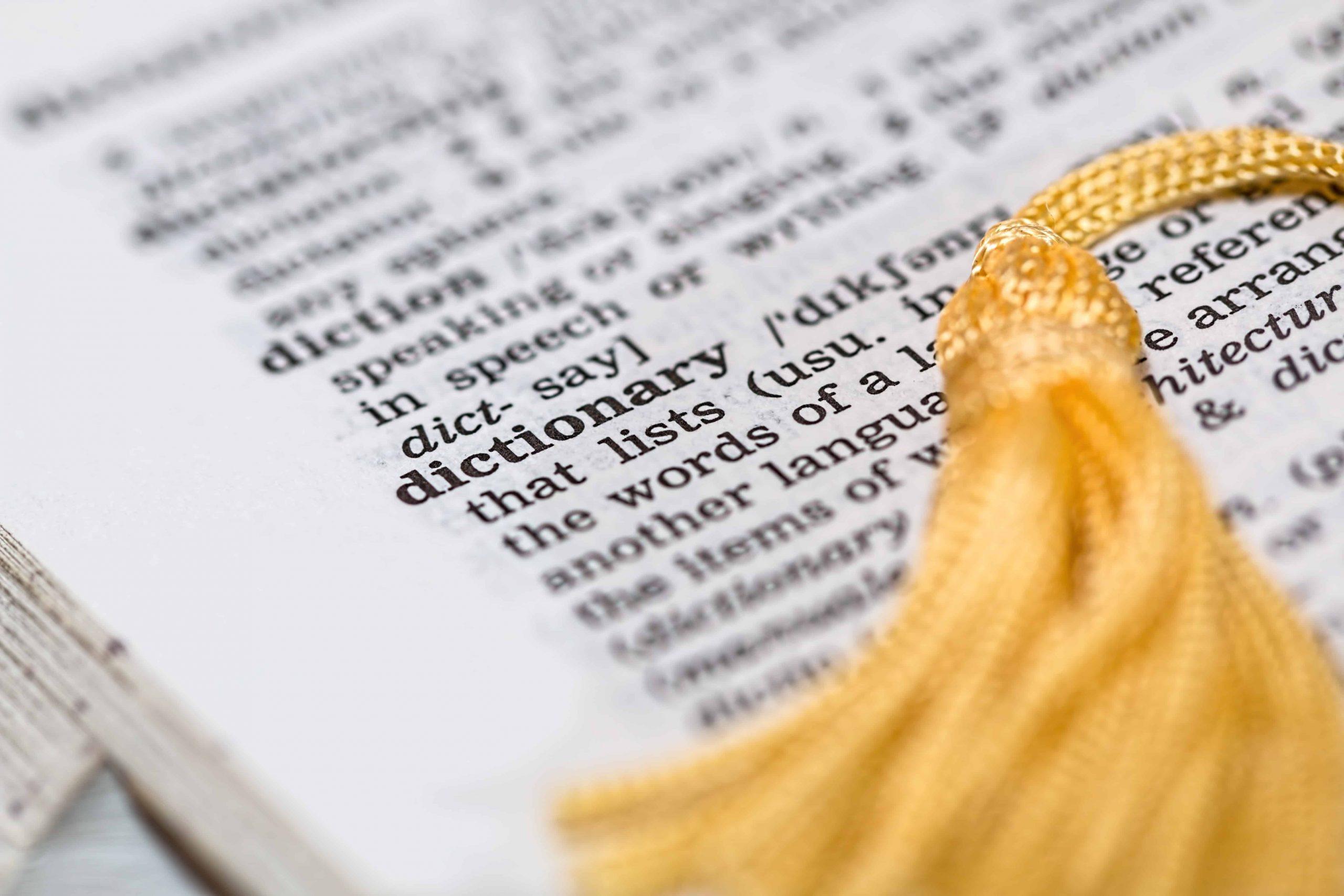Foto de dicionario de ingles.