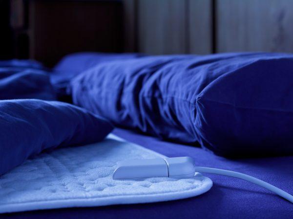 Imagem de manta térmica elétrica azul