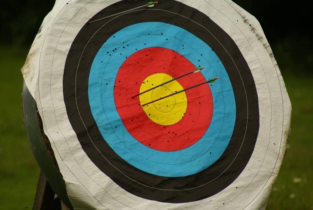 Alvo de arco e flecha.