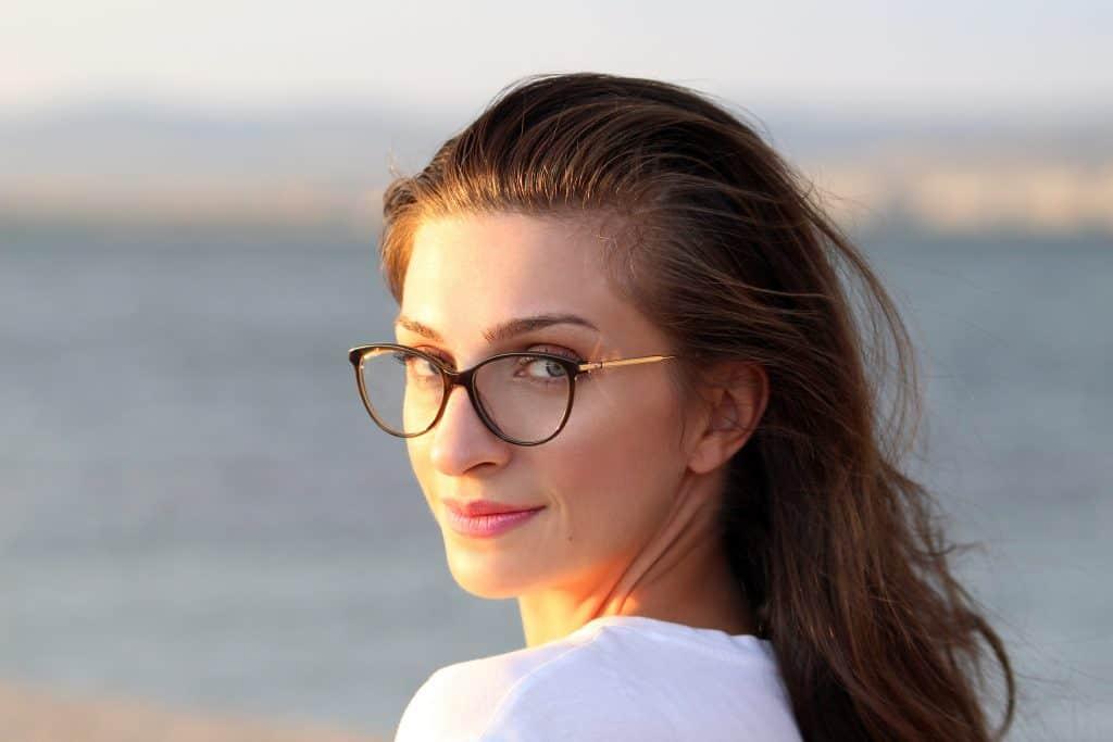 Imagem do rosto de uma mulher.
