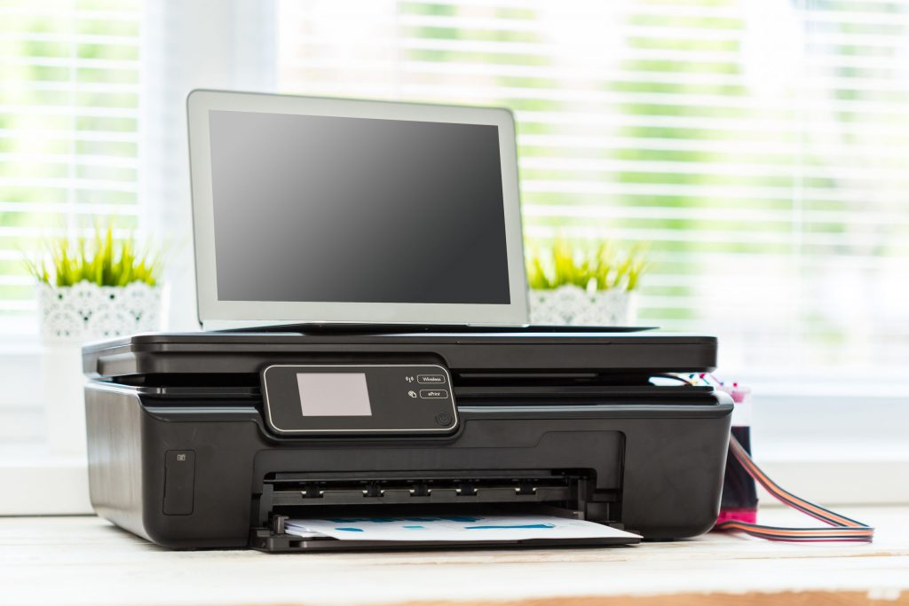 Imagem de uma impressora tanque de tinta.