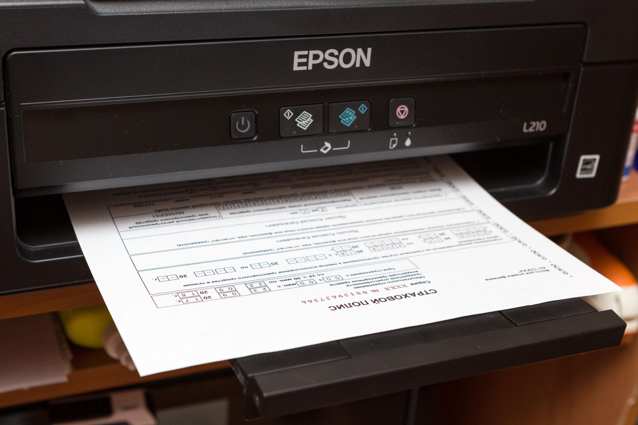 Imprimindo documento em impressora Epson.