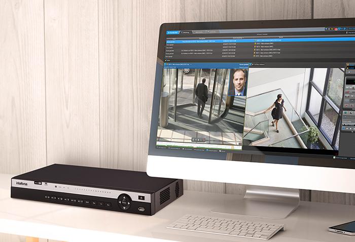 Imagem de um DVR Intelbras.