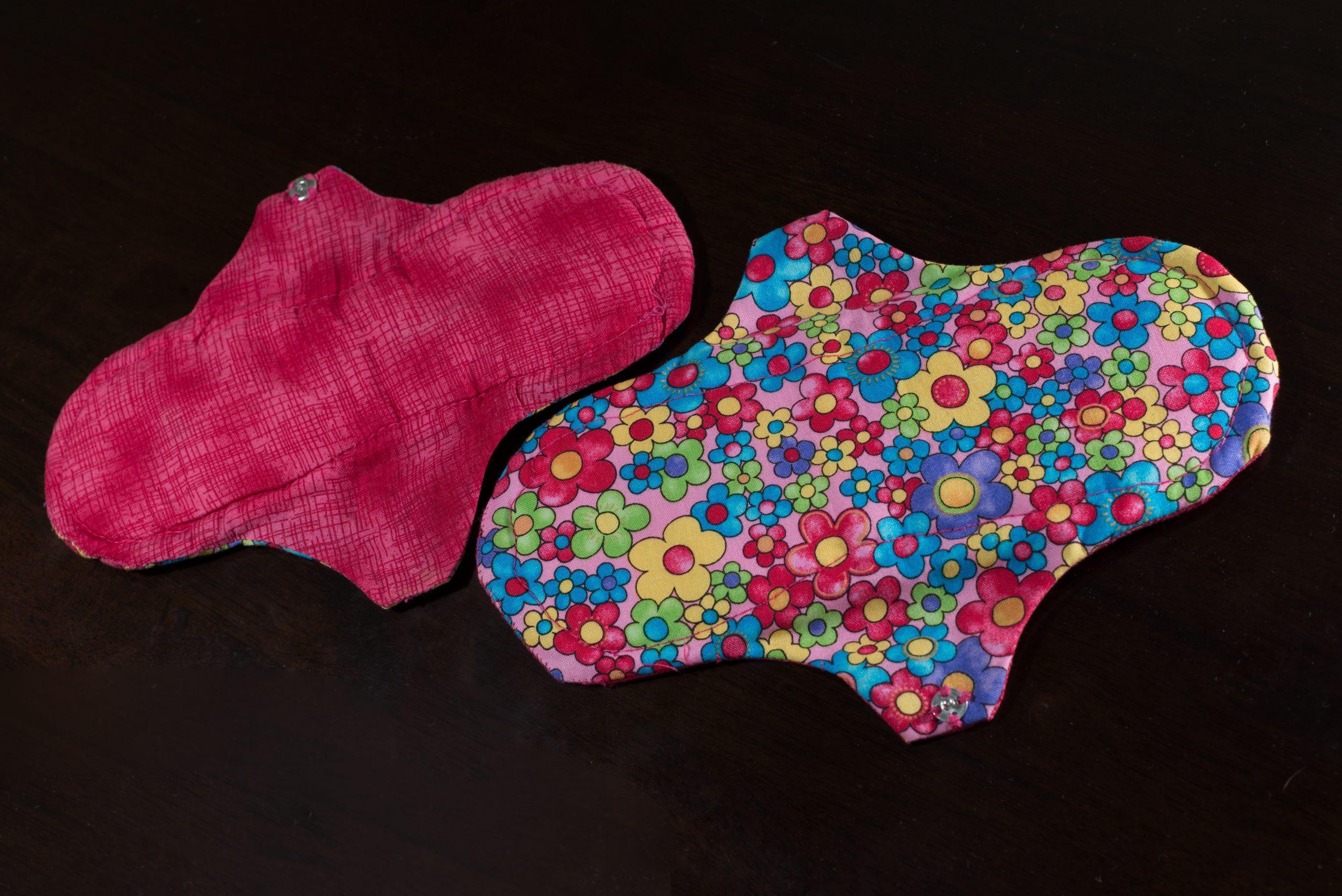 Imagem de par de absorventes ecológicos