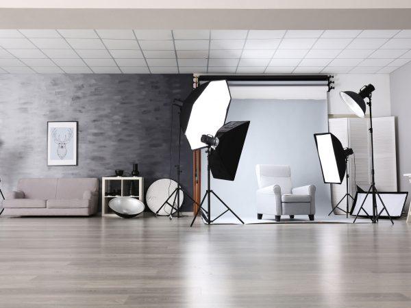 Imagem de um estúdio de fotografia.