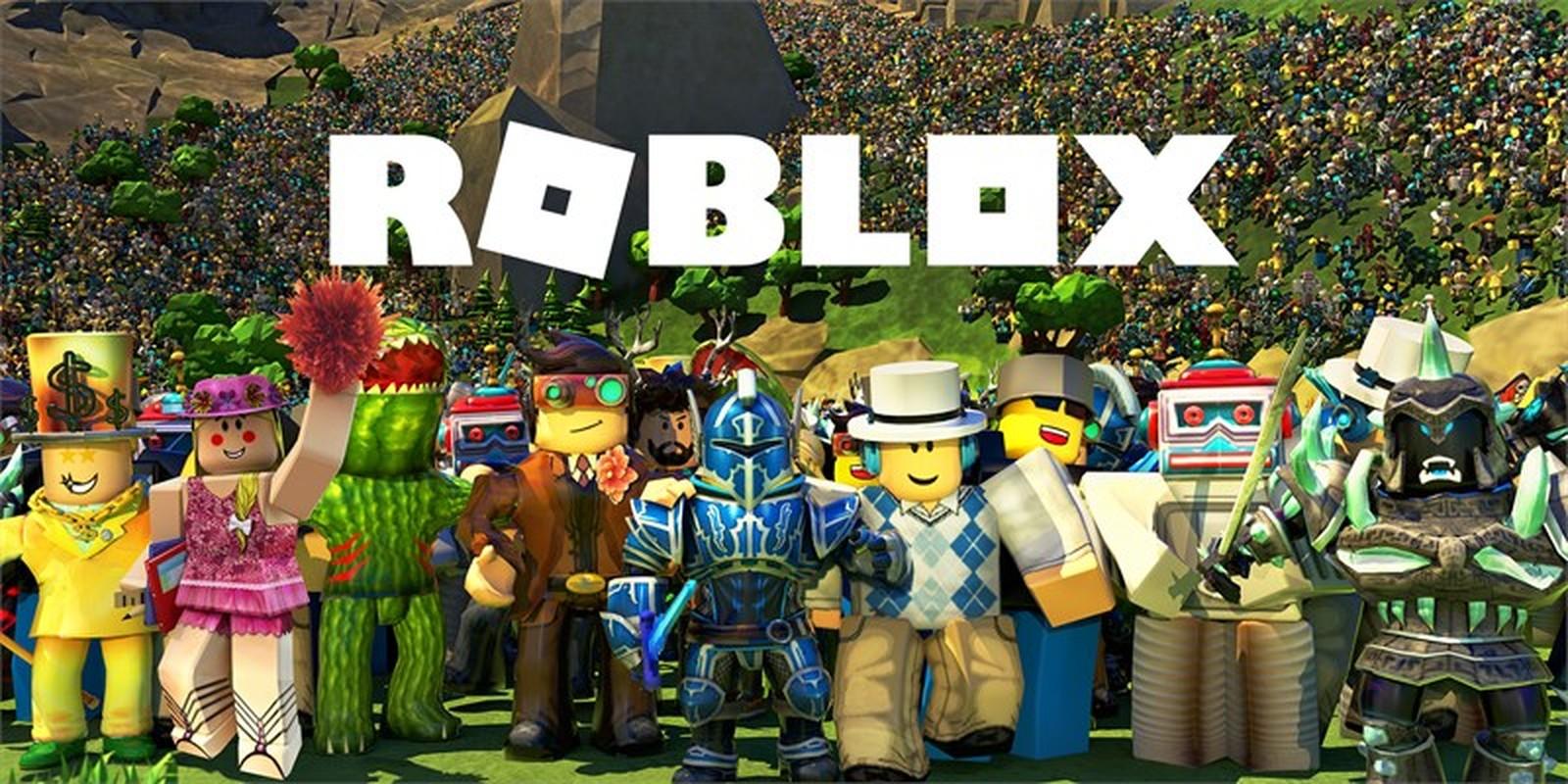 Na foto diversos bonecos Roblox juntos.