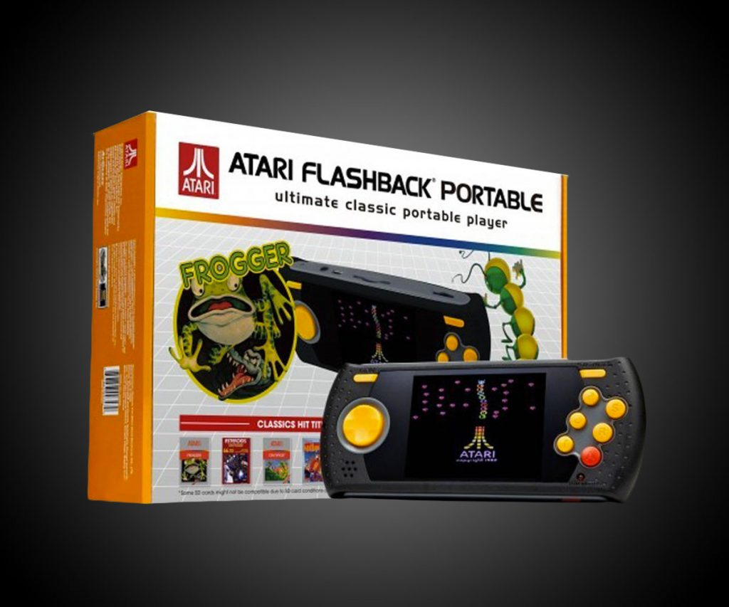 Imagem de console Atari Flashback portátil com a caixa
