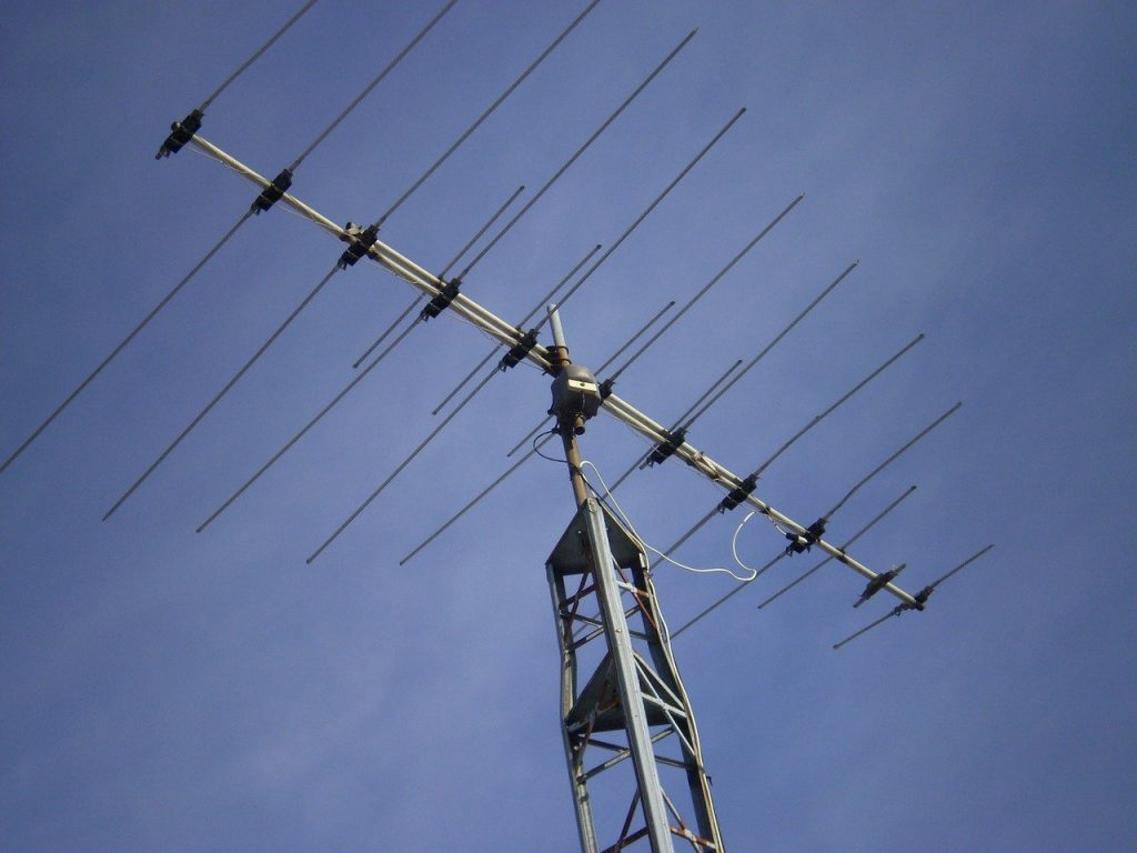 Na foto uma antena externa.