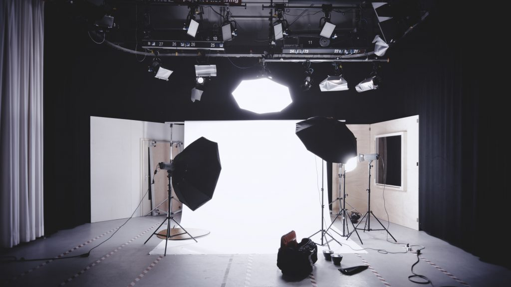 Na foto um estúdio fotográfico