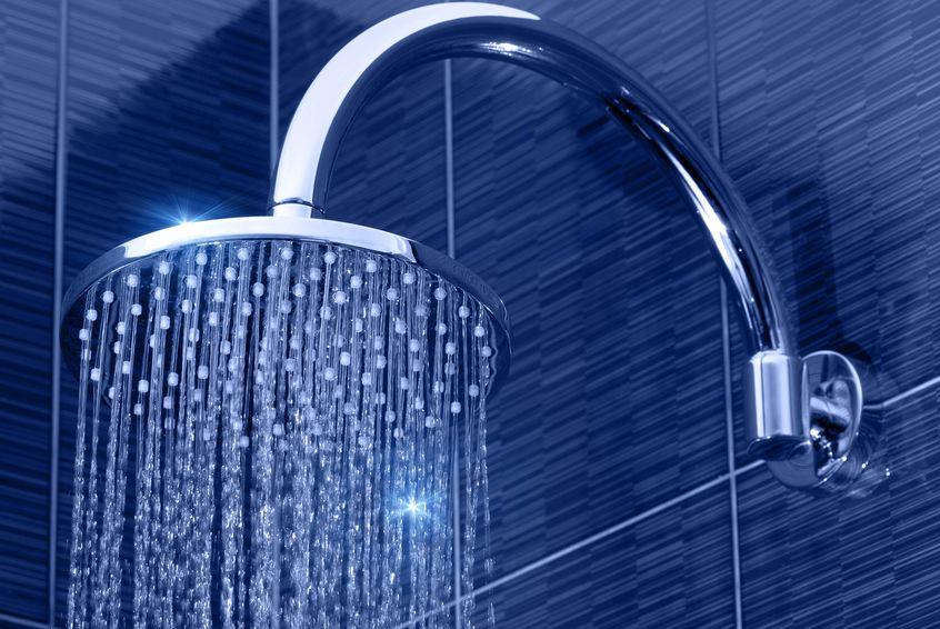 Um chuveiro aberto