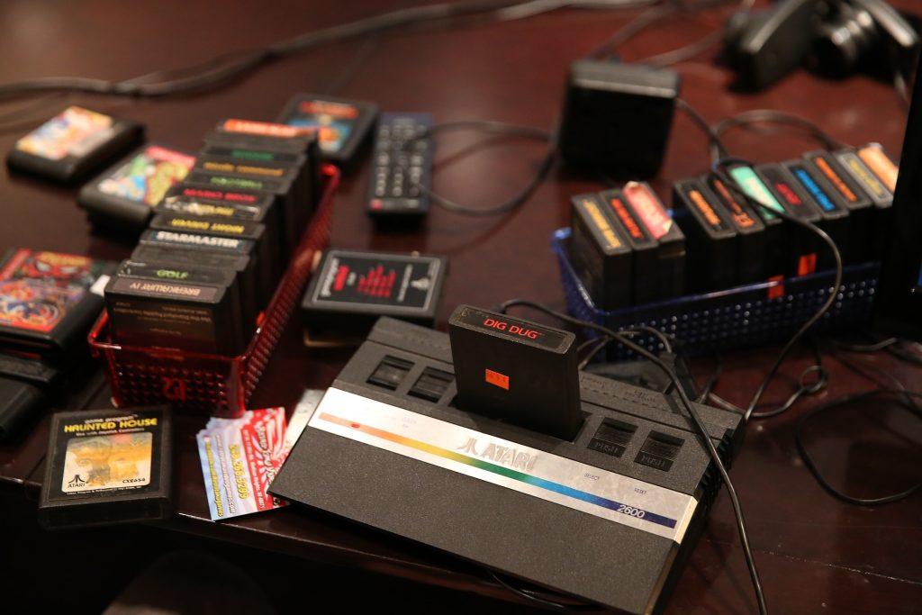 Imagem de modelo antigo do Atari