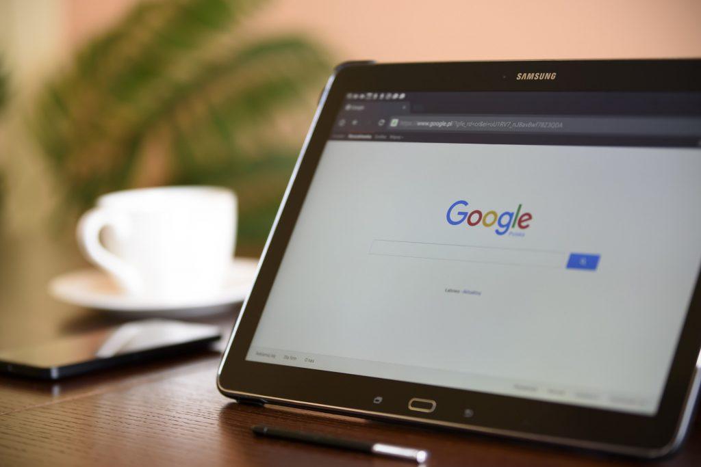 Imagem de um tablet da Samsung