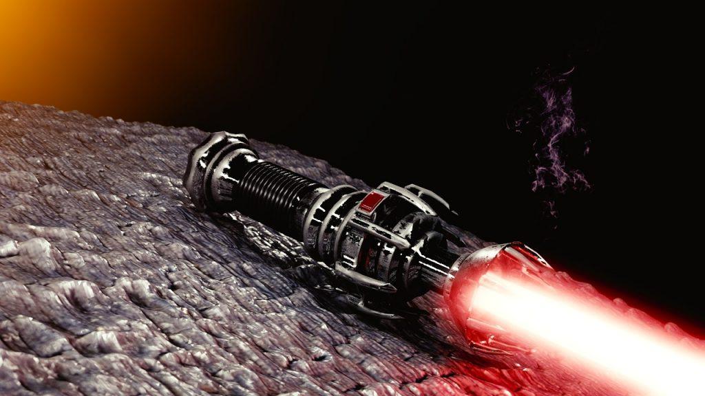 Imagem de imitação de sabre de luz realístico