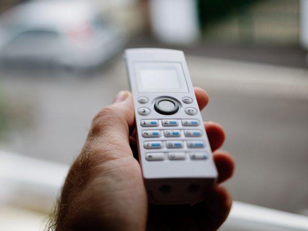 Imagem de telefone sem fio branco
